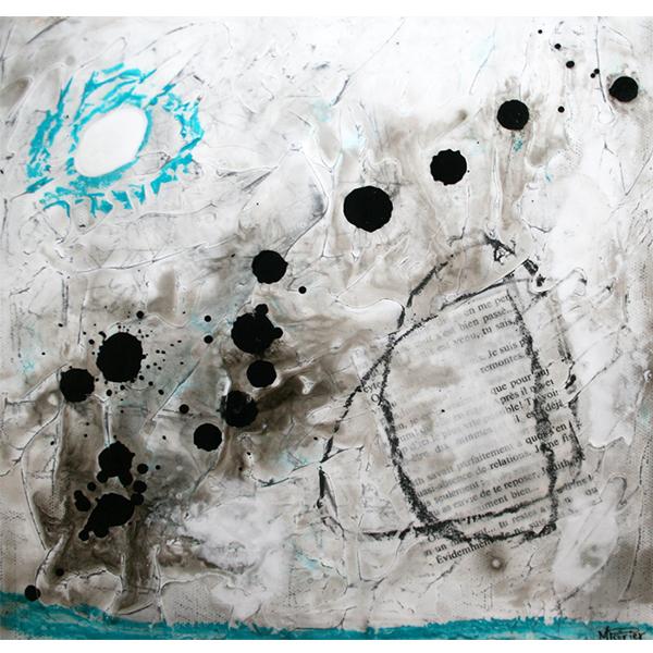 Fragments de vie IV |25 x 25 cm | Techniques mixtes sur toile