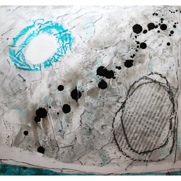 Fragments de vie VI | 25 x 25 cm | Techniques mixtes sur toile