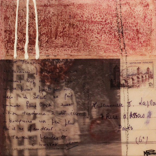 Je me souviens de vous V | 15 x 15 cm | Techniques mixtes sur toile