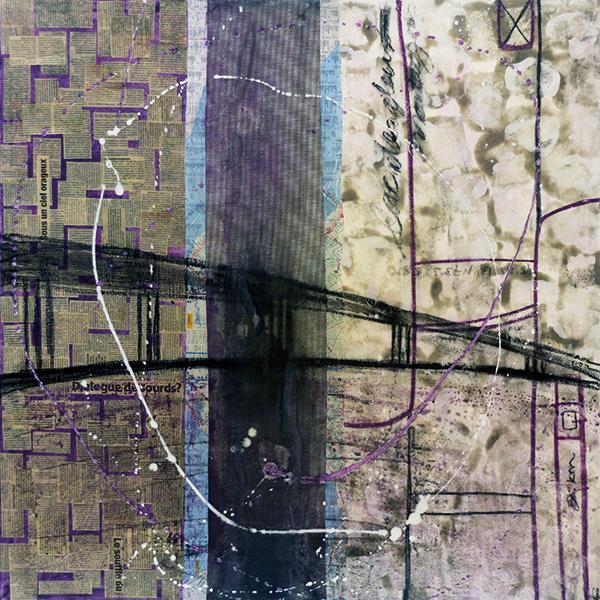 45°25′13″N 73°58′58″O (Ile-aux-Tourtes)   91 x 91 cm   Techniques mixtes sur toile