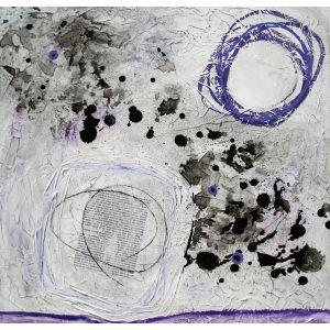 Fragments de vie IX | 61 x 61 cm |Techniques mixtes sur toile
