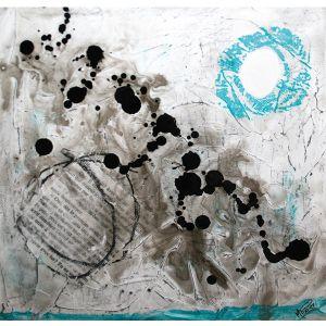 Fragments de vie V | 25 x 25 cm |Techniques mixtes sur toile