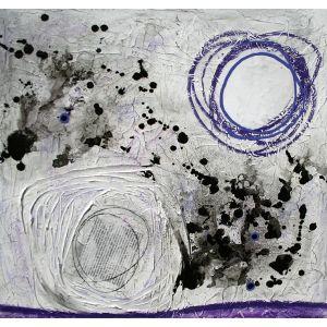 Fragments de vie VII | 61 x 61 cm |Techniques mixtes sur toile