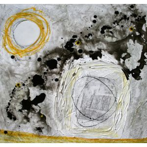 Fragments de vie X | 61 x 61 cm |Techniques mixtes sur toile
