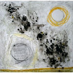 Fragments de vie XI | 61 x 61 cm |Techniques mixtes sur toile