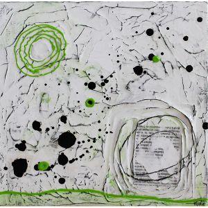 Fragments de vie XVI | 30 x 30 cm | Techniques mixtes sur toile