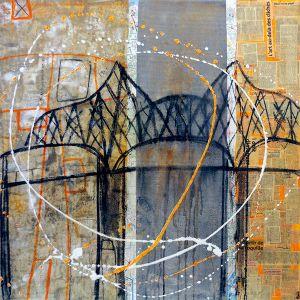45° 28′ 02″ N 73° 30′ 14″ W (Champlain) | 91 x 91 cm | Techniques mixtes sur toile