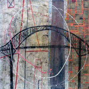 46° 18′ 24″ N 72° 33′ 38″ W (Laviolette) | 91 x 91 cm | Techniques mixtes sur toile