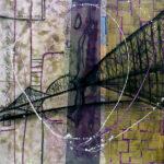 46° 44′ 46″ N 71° 17′ 16″ W (Québec) | 91 x 91 cm | Techniques mixtes sur toile