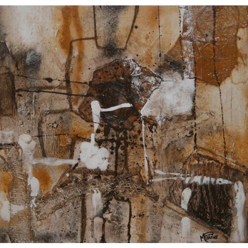 Drakar.1 | 41 x 41 cm | Techniques mixtes sur toile