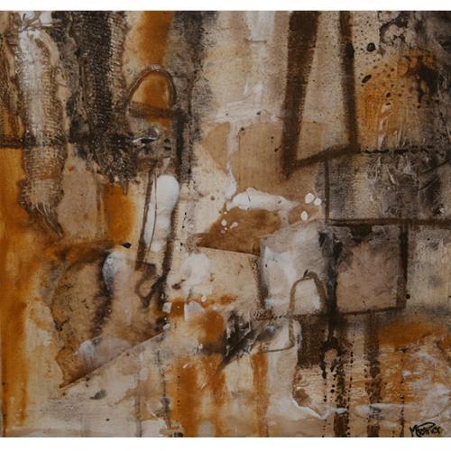 Drakar.2 | 41 x 41 cm |Techniques mixtes sur toile