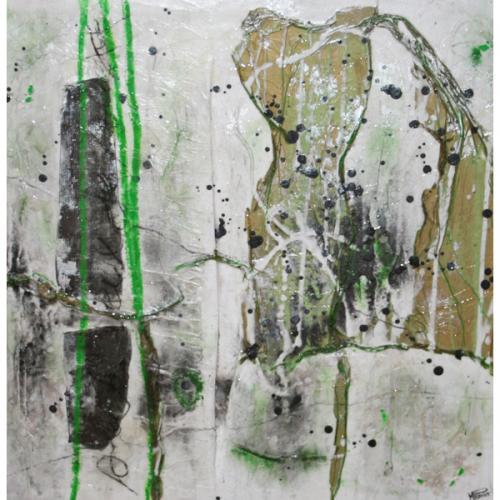 Esmeralda I | 51 x 51 cm | Techniques mixtes sur toile