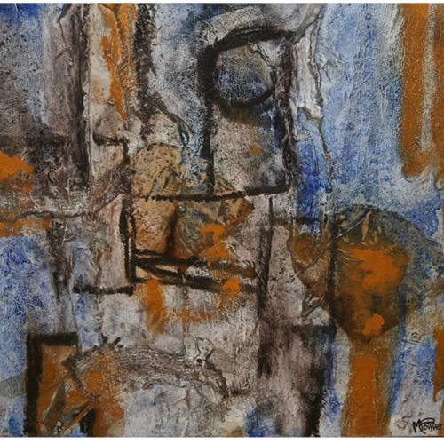 Hiéroglyphe I | 41 x 41 cm | Techniques mixtes sur toile