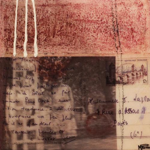 Je me souviens de vous XIV   15 x 15 cm   Techniques mixtes sur toile