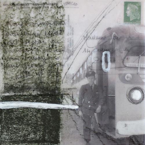 Je me souviens de vous VII | 15 x 15 cm | Techniques mixtes sur toile
