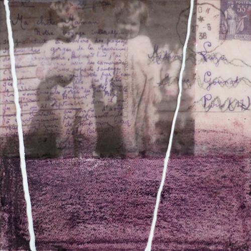 Je me souviens de vous XIV | 15 x 15 cm | Techniques mixtes sur toile