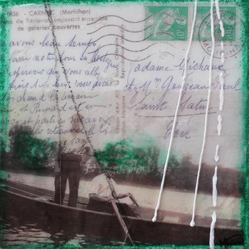 Je me souviens de vous XXII | 15 x 15 cm | Techniques mixtes sur toile