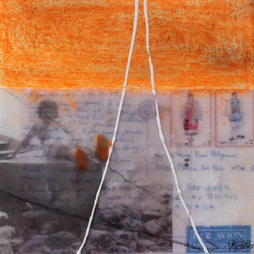 Je me souviens de vous XXXI | 15 x 15 cm | Techniques mixtes sur toile