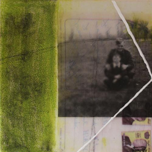 Je me souviens de vous XXXXII | 15 x 15 cm | Techniques mixtes sur toile