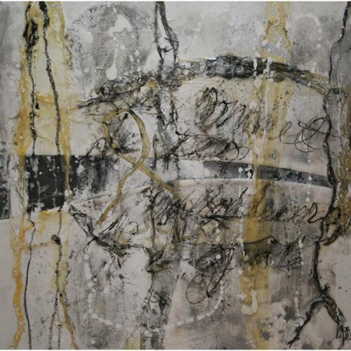 Le sommet de tes profondeurs… | 51 x 51 cm |Techniques mixtes sur toile