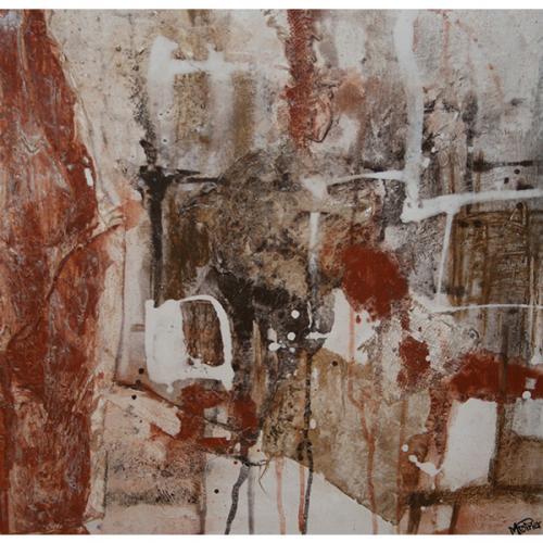 Paprika 1 | 61 x 61 cm | Techniques mixtes sur toile