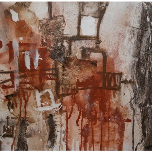 Paprika 2 | 61 x 61 cm | Techniques mixtes sur toile