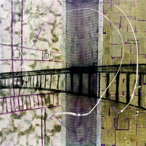 45° 42′ 05″ N 73° 30′ 32″ W (Charles-De Gaulle) | 91 x 91 cm | Techniques mixtes sur toile