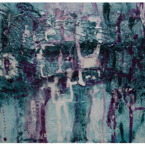 Pont de vérité V | 30 x 30 cm |Techniques mixtes sur toile
