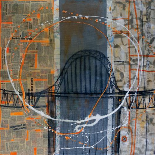 45° 25′ 01″ N 73° 39′ 18″ W (Honoré-Mercier) | 91 x 91 cm | Techniques mixtes sur toile